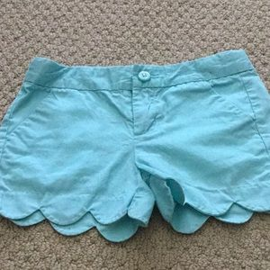 Girls short size 6 turquoise/ teal